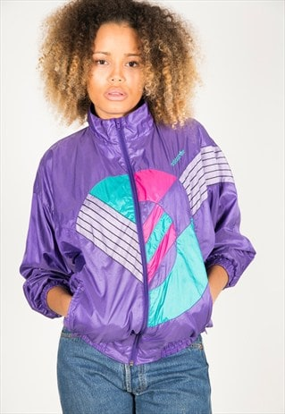 LAST UNIT SALE / VINTAGE 80S USA ADIDAS SHELL SPORT JACKET