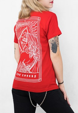 The Lovers Tarot Red Unisex T-shirt