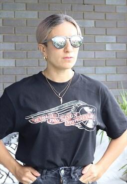 Vintage Y2K Harley Davidson black oversized t shirt