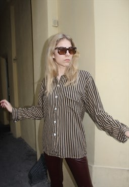 Vintage 90' Oldschool Amazing Strict Stripped Blouse