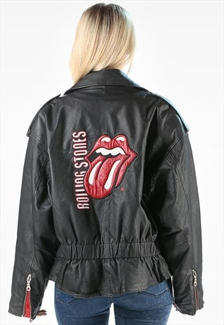 ROLLING STONES LEATHER MOTO JACKET CONCERT