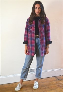 90s Vintage Padded Lumberjack Thick Shirt Jacket
