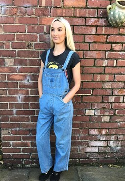 Vintage Levi's 90's blue denim long dungarees