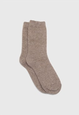 Cocoa angora smooth socks