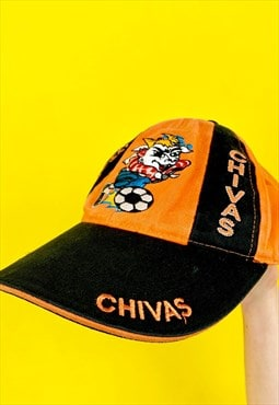 Vintage Orange Sportswear Dad Cap Baseball 80s 90s Snapback