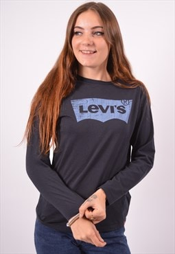 Vintage Levi's Top Long Sleeve Navy Blue