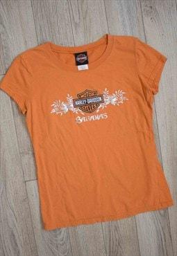 Vintage Harley Davidson T-Shirt Logo 90s L 4