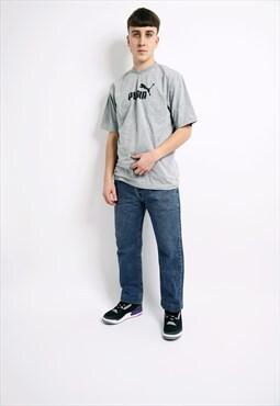 Vintage LEE men's 90s jeans 80s dark blue washed straight 34