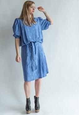Vintage 80s puffer sleeve dress