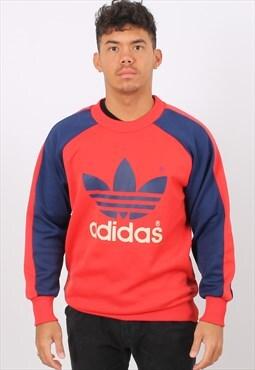 Vintage Adidas Medium Red Printed Sweatshirt