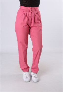 High Waisted Trousers Plain Wide Tapered Leg  UK 8 - 10 GW4L