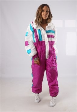 Vintage Full Ski Suit Snow Sports 90's UK 14 - 16  (JHBH)