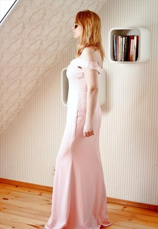 LIGHT PINK MAXI OCCASION DRESS