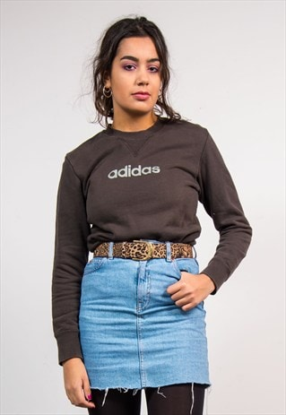 90'S VINTAGE DARK BROWN ADIDAS SWEATSHIRT