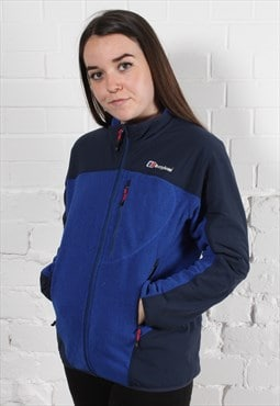 Vintage Berghaus Fleece in Blue & Black w/ Spell Out Logo