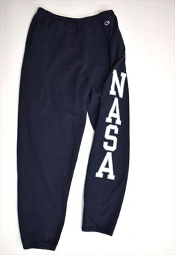 Vintage 90s Champion Navy 'NASA' Jogger Sweatpants