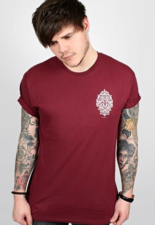 Lock Maroon T-Shirt