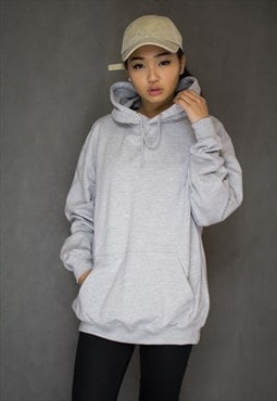 Oversized Boyfriend Heather Grey Hoodie