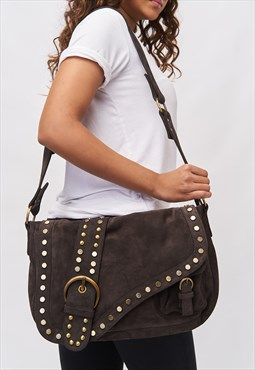'Sinead' Saddle Bag - Mocha (Shoulder & Cross Body)