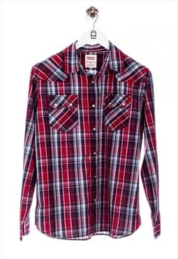 Vintage Levis  Plaid Long-Sleeved Shirt Red
