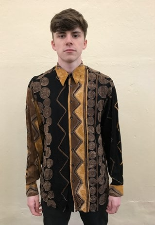 90S VINTAGE HAUPT PATTERNED FESTIVAL SHIRT