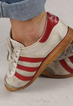 RARE 80's Adidas Vienna Trainers West Germany UK 3.5 (BD4M)