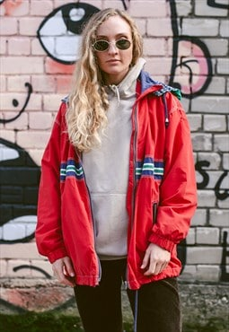 Vintage 90s Sporty Windbreaker Jacket