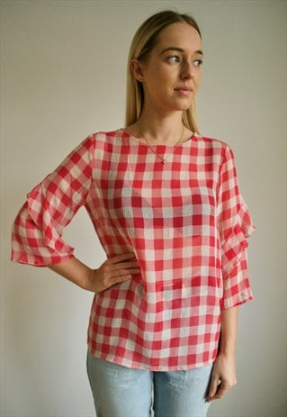 VINTAGE 90'S CHECKED TOP