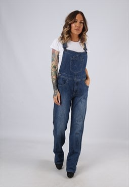 Denim Dungarees Vintage Straight LONG LEG UK 12  (BJBF)