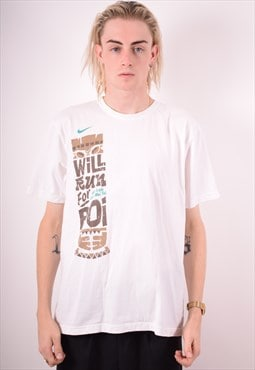 Nike Mens Vintage T-Shirt Top Large White 90s