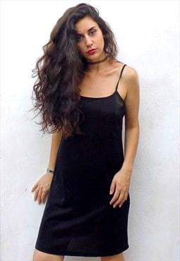 Vintage 90's normcore black dress
