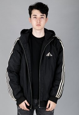 Vintage 90s Adidas Sports Coat Windbreaker Black