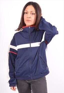 Vintage Fila Tracksuit Top Jacket Navy Blue