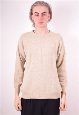 Yves Saint Laurent Mens Vintage Jumper Sweater Large Beige 9