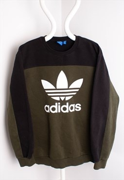 Adidas spell out crew neck sweatshirt