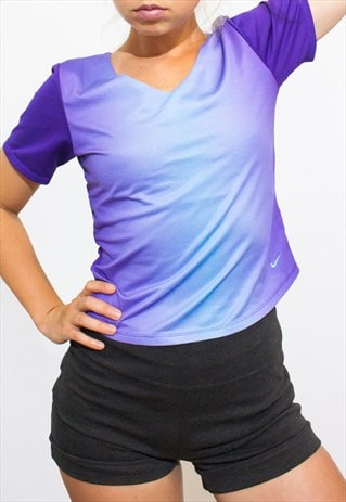 SPORTS STRETCH TOP T-SHIRT NIKE  PURPLE OMBRE