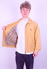 Vintage Burberry Nova Check Harrington Jacket in Yellow