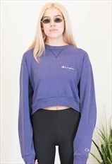Vintage Champion Cropped Crewneck Top