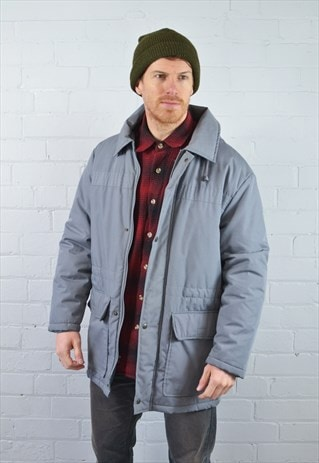 GREY THICK WINTER PARKA COAT