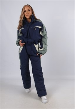 Vintage QUECHUA Full Ski Suit Snow TALL UK 12 - 14 (A3O)
