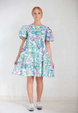 Floral Ruffle Print Dress Lola