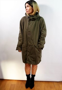 Vintage  unisex Army military hooded cotton Parka
