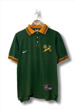 Vintage Nike South Africa Rugby polo shirt in green
