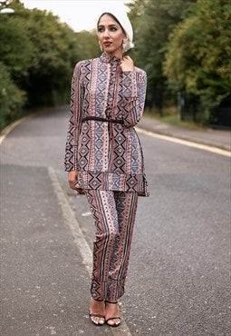 Verona Printed Trousers Co-ord