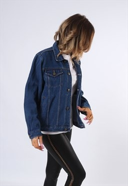 Denim Jacket Oversized Relaxed fit UK 12  (E4CT)