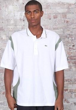 Vintage Lacoste Logo Polo Shirt White