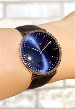 Retro Slim Leather Watch