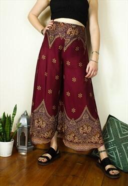 Fairtrade Paisley Palazzo Trousers / Pants