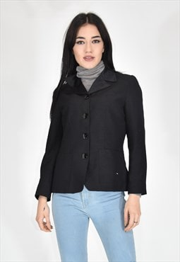 VINTAGE classic elegant black jacket in cotton