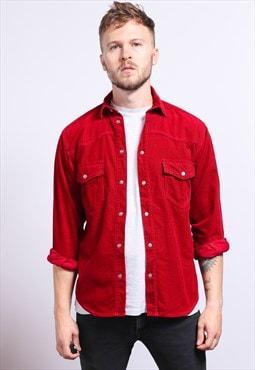 Vintage Corduroy Cord Shirt Red